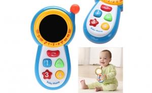 Jucarie Interactiva - Telefon muzical bebelusi + Bonus Baterii Incluse