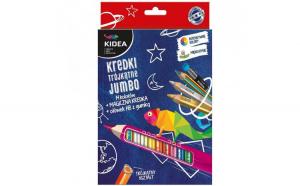 Set jumbo creioane colorate+creion