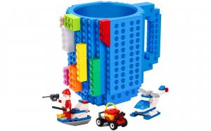 Cana creativa pentru blocuri de constructie tip Lego, disponibil in mai multe culori