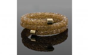 Bratara Shinydust cristale maro-aurii