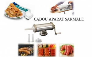 Setul gospodinei - Masina de facut carnati + Cadou Aparat de facut sarmale