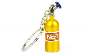 Breloc metalic butelie nitro Galben