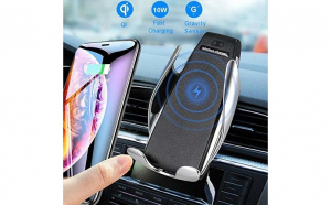 Suport auto cu incarcator wireless si senzor inteligent Smart Sensor S5,  functie Fast Charge