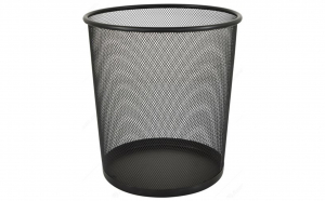 Cos de gunoi metalic pentru birou model plasa
