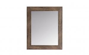 Oglinda de perete, cadru din lemn maro, 52 x 62 cm