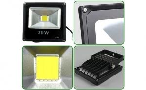 Proiector Slim de 20W cu LED COB perfect pentru iluminare exterioara