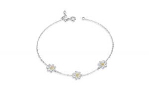 Bratara fixa din argint 925 Daisy Flower