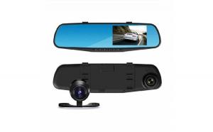 Oglinda auto cu camera fata/spate, Full HD, G Sensor