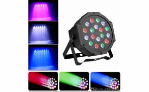 Proiector cu LED-uri RGB colorate si microfon Par Led