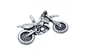 Pandantiv biker din argint 925