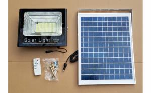 Proiector LED 100W Panou solar cu telecomanda, senzor lumina 194 led