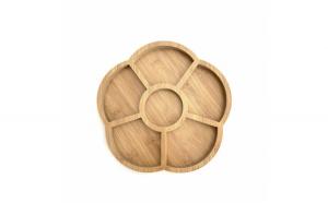 Platou din lemn pentru servire cu 6