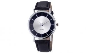 Ceas de mana negru, unisex - model Casual