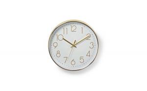 Ceas de perete alb auriu 30 cm Nedis