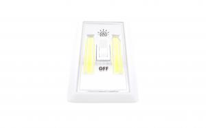 Lampa de veghe tip intrerupator, led, magnet, 2 surse de lumina
