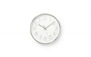 Ceas de perete alb argintiu 30 cm Nedis
