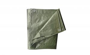 Prelata impermeabila, polietilena, verde, 100 g/mp, 5 x 8 m Premium
