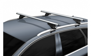 Bara / Set 2 bare portbagaj cu cheie VW Touareg II 2010-2018 - ALUMINIU - KVO003B120