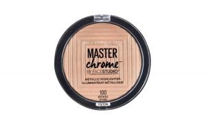 Pudra iluminatoare Maybelline Master Chrome, Nuanta 100 Molten Gold