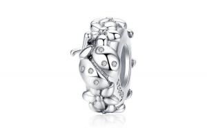 Talisman din argint 925 Ladybug