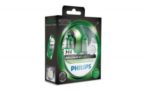 Set 2 becuri Philips H4 Vision Green