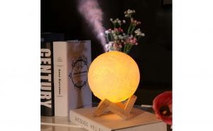 Umidificator lampa veghe luna 3D