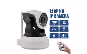 Camera IP Wireless cu filmare HD, PTZ, si doua cai audio, la numai 260 RON in loc de 445 RON
