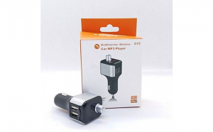 Modulator FM cu Bluetooth, 2 x USB, mp3 player, iesire 2.1A pentru incarcat telefonul mobil, hands-free