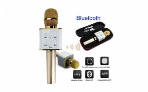 Microfon wireless portabil cu boxa inclusa si multiple functii