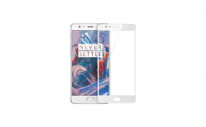 Tempered Glass - Ultra Smart Protection OnePlus 3 Fulldisplay alb