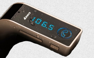 Modulator FM Hands Free Buletooth 4 in 1, negru, argintiu sau gold