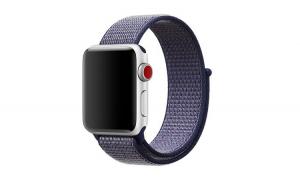 Curea Textila Premium MTP, Midnight Blue pentru Apple Watch 44mm