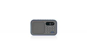 Radio cu ceas si alarma 2.1 W gri