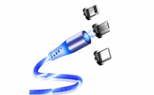 Cablu de incarcare magnetic cu LED