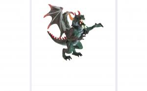 Figurina dragon negru