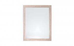 Oglinda de perete, rama lemn deschis, 46 x 56 x 2 cm