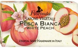 Sapun vegetal cu piersici albe, 100 g La Dispensa