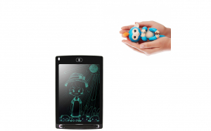 Maimuta de Jucarie cu Senzori inteligenti+Tableta LCD pentru Copii - Cu buton de stergere instant!
