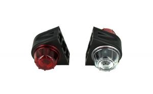 Lampa laterala gabarit cu LED Rosu-Alb 24V E4-Mark COD: BK69051