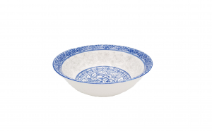 Set 3 boluri ceramica 16 cm, model traditional, albastru
