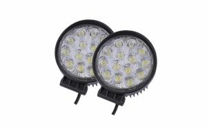 Set 2 proiectoare LED, rotunde, 42W