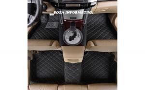 Covorase auto LUX PIELE 5D BMW seria 7 F01 2010-> varianta scurta ( 5D-033 cusatura bej )