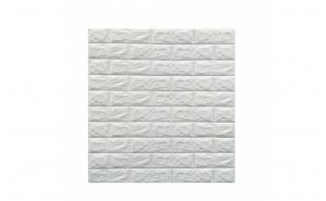 Tapet autoadeziv caramizi albe, 77 x 70 cm, spuma moale 3D