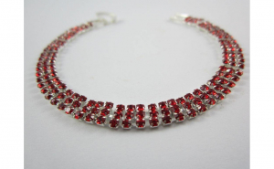 Bratara Red Crystal