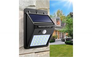 Set 2 lampi solare cu 20 de leduri si cu senzor de miscare si de lumina