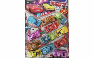 Set de 12 masinute din celebrul desen Cars