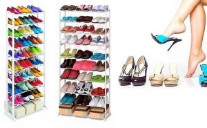 Poate sustine 20 de perechi de pantofi: Amazing shoe rack, la 49 RON in loc de 99 RON