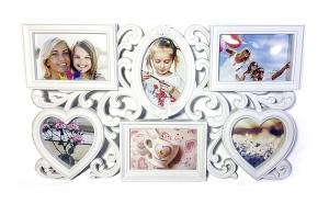 Rama foto florala -  pentru 6 poze, Dragobete, Decoratiuni