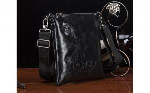Geanta Polo Shiny Leather Neagra, la doar 169 RON in loc de 329 RON