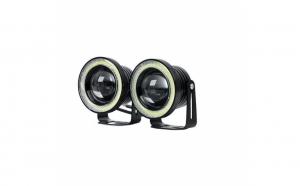 Set 2 proiectoare auto cu LED Angel Eyes, 76mm